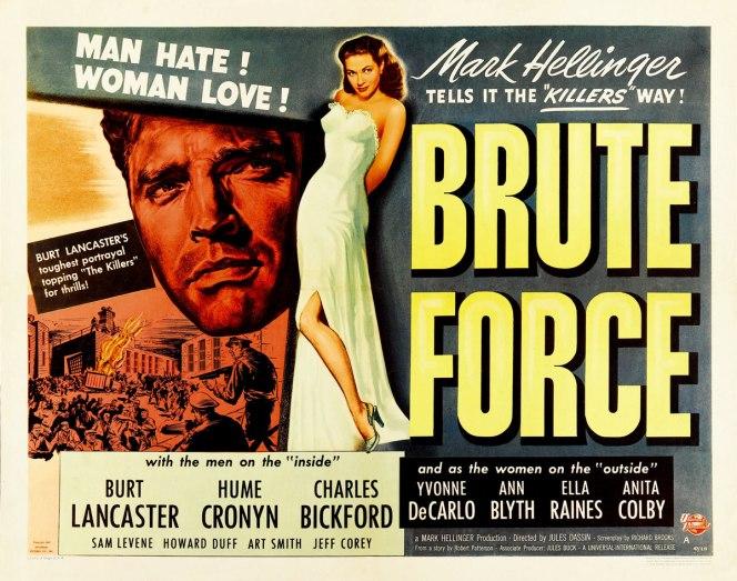 Brute Force Half Sheet Movie Poster
