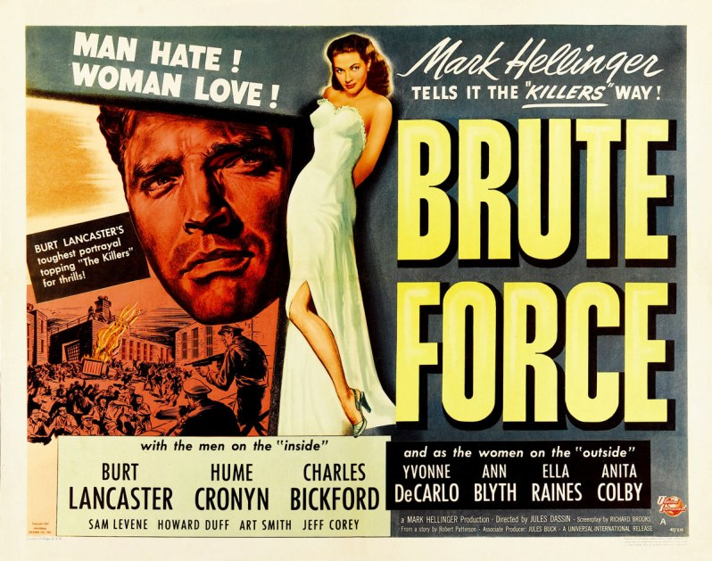 Brute Force Half Sheet Movie Poster
