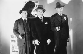Frank McHugh, James Cagney and Humphrey Bogart as rival gangsters