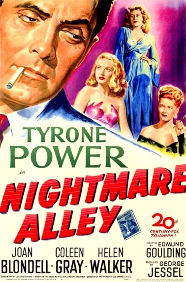 nightmare alley poster tyrone power use
