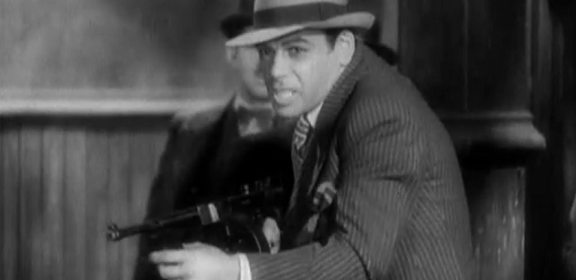 Paul Muni is the notorious, Scarface