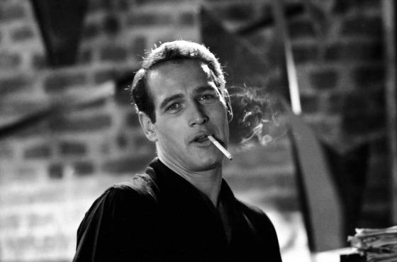 Paul NEWMAN, Portrait mit Zigarette 1960