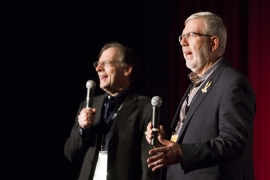 Beck and Maltin introduce the line-up of Bugs Bunny cartoons