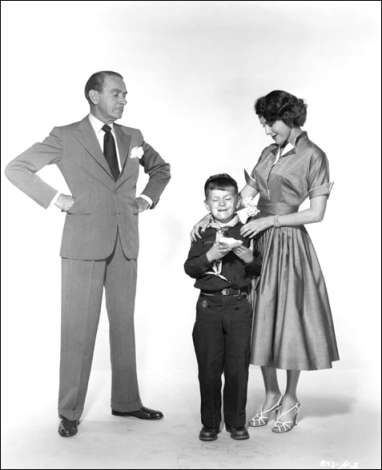Publicity still - with Clifton Webb and Frances Dee