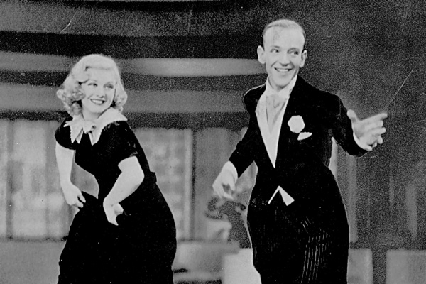 Jazz age elegance ... Fred Astaire and Ginger Rogers in Swing Time.