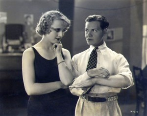 Lombard and Eddie Quillan in SHOW FOLKS