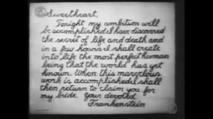 Sure of perfection - the letter the Doctor sent to his dear, Elizabeth prior to the creation.