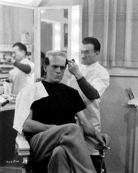 Jack Pierce making a Monster out of Boris Karloff