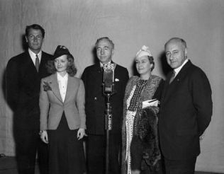 English Nobility Visiting Cecil B. DeMille Backstage