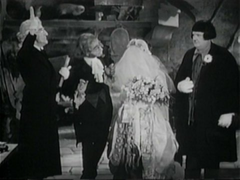 Stannie as the bride marries Barnaby in Bo Peep's place