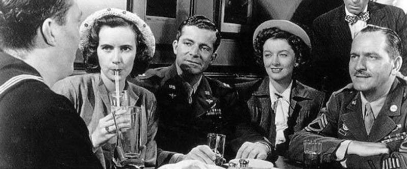 Harold Russell, Teresa Wright, Dana Andrews, Myrna Loy and Fredric March in THE BEST YEARS OF OUR LIVES