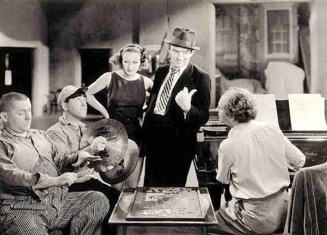 Joan with Ted Healy and The Three Stooges