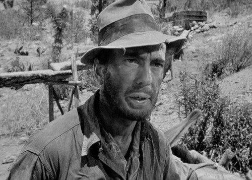Humphrey Bogart in THE TREASURE OF THE SIERRA MADRE