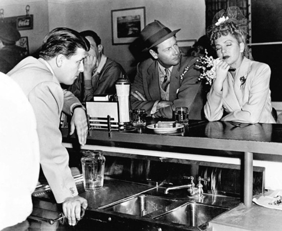 With Joel McCrea and Jean Arthur on set for The More the Merrier