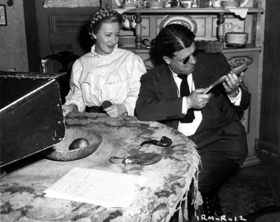 With Irene Dunne on I Remember Mama