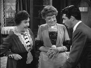 With Jean Adair and Cary Grant in Capra's Arsenic and Old Lace
