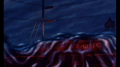 Diner engulfed by the Blob