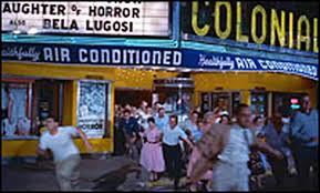 "Despite the Colonial Theater being ""Healthily Air-Conditioned,"" the crowd would rather face the heat than face The Blob"
