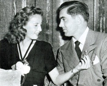 During rehearsal - Stanwyck and Power