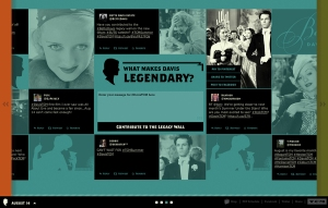 The Bette Davis Twitter Wall from SUTS 2013