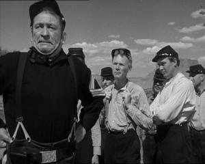 Victor McLaglen, Harry Carey Jr. and Ben Johnson