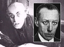 Max Schreck (inset as self) and as Orlock, 'Nosferatu'