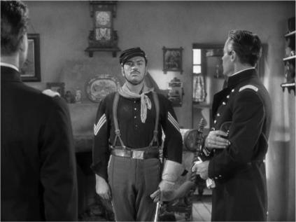 Despite his goofing around  earlier in the film, Beaufort is a good soldier, quite aware of what's required of him.