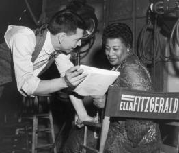 On set with Jazz legend, Ella Fitzgerald