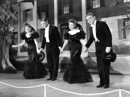 As The Four Cohans - Rosemary DeCamp, Walter Huston, Jeanne Cagney and James