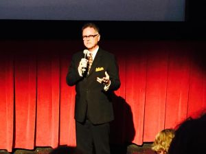 Founder & President of The Noir Foundation, Eddie Muller introducing TOO LATE FOR TEARS