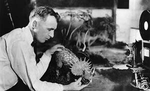 O'Brien working on a model for The Lost World
