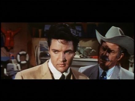 Elvis and James Gregory as father and son in the reconciling scene