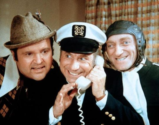 Dom DeLuise, Mel Brooks and Marty Feldman in Silent Movie