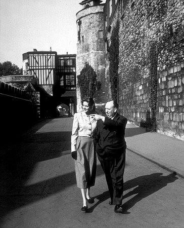 Bergman and Hitchcock in 1946
