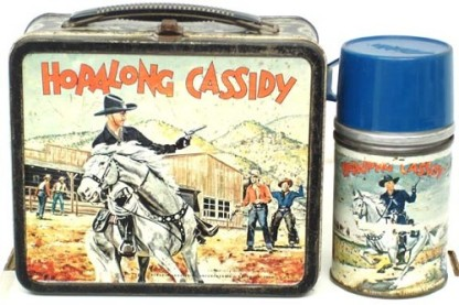The Hopalong Cassidy lunchbox was the first made based on a TV character/show