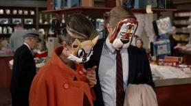 Breakfast at Tiffany's mask scene