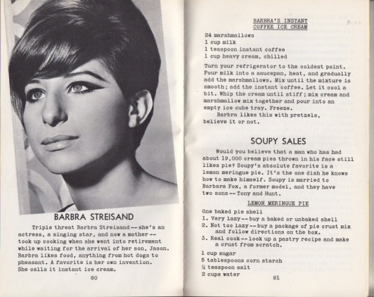 Barbra's Ice Cream and Soupy Sales' Pie