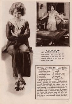 Clara Bow's Deviled Oysters