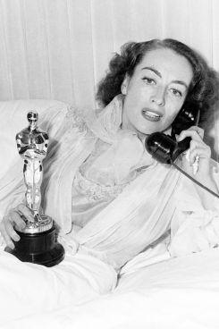 Joan Crawford and her Oscar