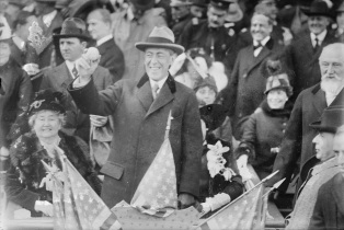 Woodrow Wilson at 1915 world Series