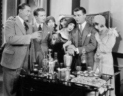 1920s bar set-up