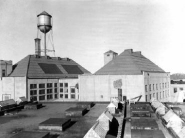Courtesy of the Fort Lee Film Co.The old Universal Pictures backlot in Fort Lee, which had its own water tower.