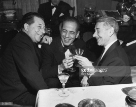 David Chasen and Mike ('Crown Prince') Romanoff (Harry Gerguson) with Humphrey Bogart