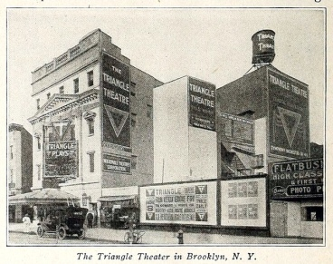 Triangle Theatre, Brooklyn NY in 1915