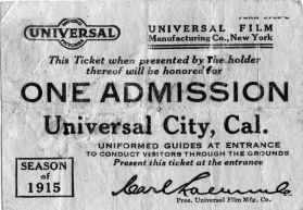 Universal Tour ticket
