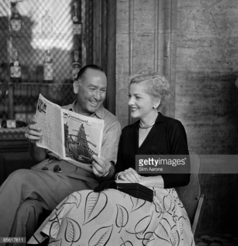 William Dieterle and Joan Fontaine