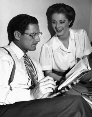 Errol Flynn and Eleanor Parker