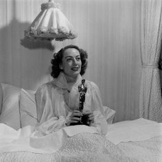 Joanie with lamp and Oscar
