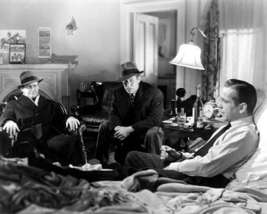 THE MALTESE FALCON, from left: Barton MacLane, Ward Bond, Humphrey Bogart, 1941