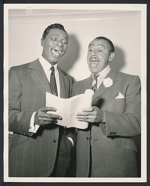 Nat King Cole and Cab Calloway in 1957